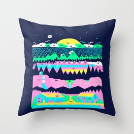 Explore the north Throw Pillow
