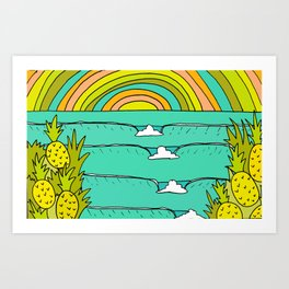 pineapple fields and endless summer vibes Art Print