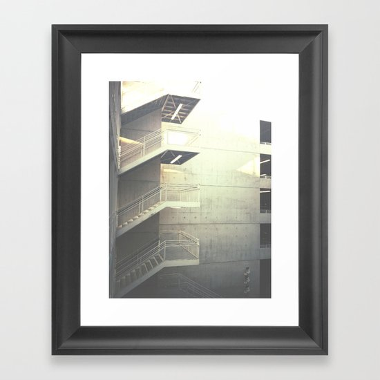 Industrial Stairs 02 Framed Art Print