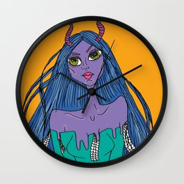 Lilac Monster Wall Clock
