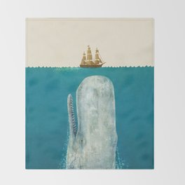 The Whale - colour option Throw Blanket
