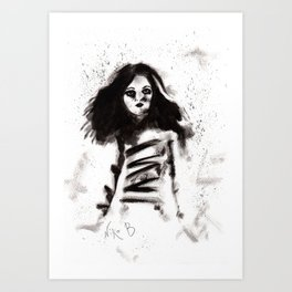 Soldados muertos (sketch version) Art Print