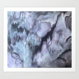 Haunted Quartz Purple Geometric Painting Art Print