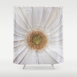 Raindrops on Gerbera Flower Shower Curtain
