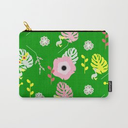 Flowers, leaves and ... pelicans Carry-All Pouch