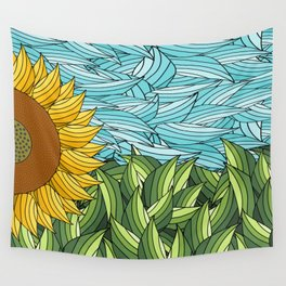 SUNNY DAY (abstract flowers) Wall Tapestry