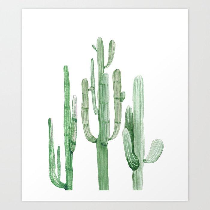 Three Amigos White + Green by Nature Magick Kunstdrucke