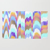 glitch Area & Throw Rugs featuring Glitch by Elisabeth Fredriksson