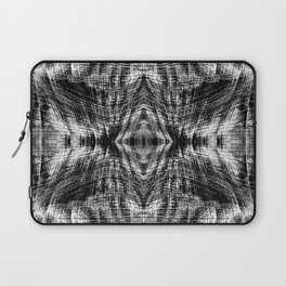 vintage geometric symmetry pattern abstract background in black and white Laptop Sleeve