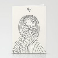 rapunzel Stationery Cards featuring Rapunzel by Dao Linh