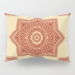 The Red Moroccan Pattern Pillow Sham