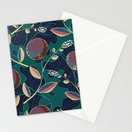 Polka dots flowers - colorful geometric Stationery Cards