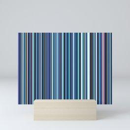 Old Skool Stripes - Blues - Extra Wide Mini Art Print