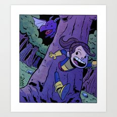 Run Kitty Run! Art Print