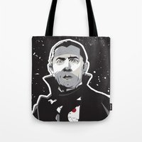 dracula Tote Bags featuring Dracula by Matt Fontaine