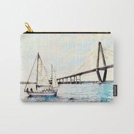 Charleston South Carolina - Sailboat - Arthur Ravenel Jr Bridge Carry-All Pouch