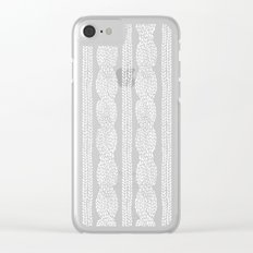 Cable Row B Clear iPhone Case