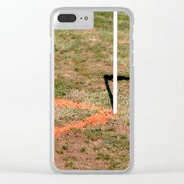 Orange Soccer Corner Clear iPhone Case
