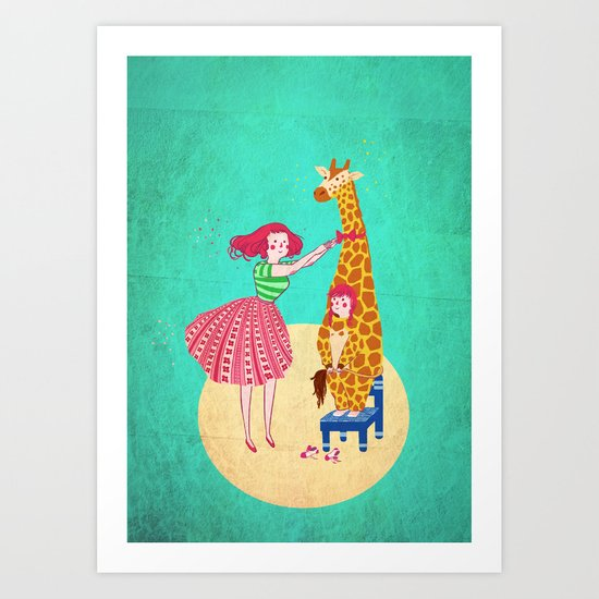 Nothing like being 6 to grow taller! Art Print