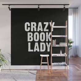 Crazy Book Lady Wall Mural