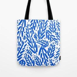 Leaf Pattern - Blue Tote Bag