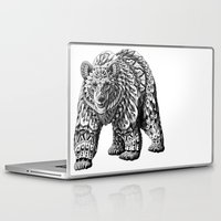bioworkz Laptop & iPad Skins featuring Ornate Bear by BIOWORKZ
