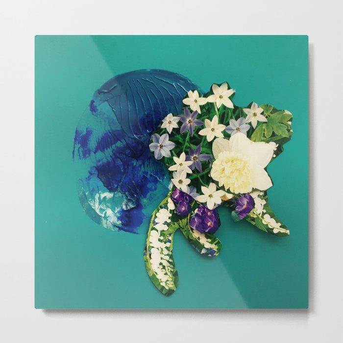 Garden Circle - Jade Metal Print
