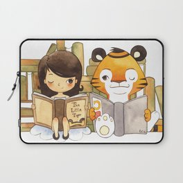 Little Girl and Little Tiger Laptop Sleeve