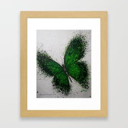 Emerald Butterfly Framed Art Print