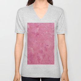Abstract modern pink white paint texture Unisex V-Neck