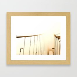 Golden Fog Framed Art Print