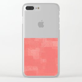 Squares Within Squares Coral Clear iPhone Case