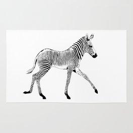 Zebra trotting Rug