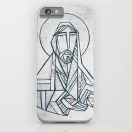 Jesus Christ with open hands iPhone Case