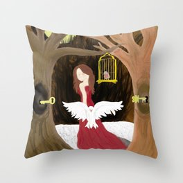 The Old Woman in the Woods Throw Pillow