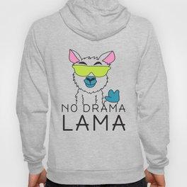 No drama Lama Cute T Shirt Funny No Drama Alpaca Lammacorn Hoody