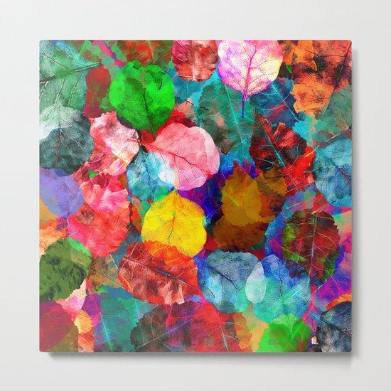 Leaf mosaic(26). Metal Print