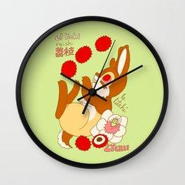 Jackalope and Lychee Wall Clock