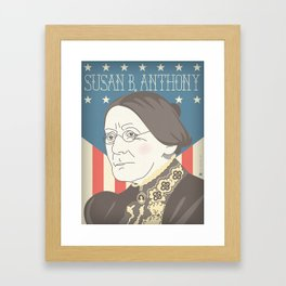 Susan B. Anthony Portrait Framed Art Print