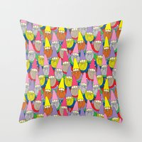 gnome Throw Pillows featuring Mister Gnome by Lydia Meiying