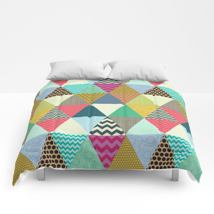 New York Beauty triangles Comforters