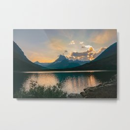 Swiftcurrent Sunset Metal Print