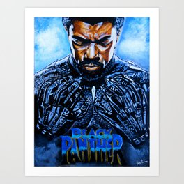 Black Panther Merchandise Art Print