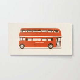 Double-Decker London Bus Metal Print