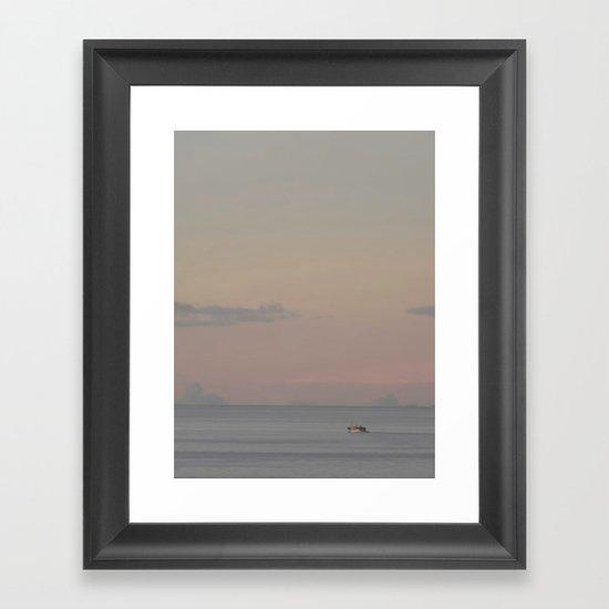 Guada sunset Framed Art Print
