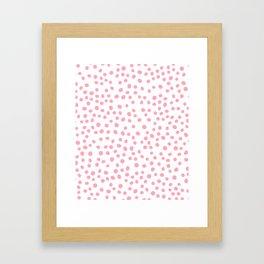 Hot Pink doodle dots Framed Art Print