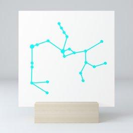 Sagittarius (Cyan & White) Mini Art Print