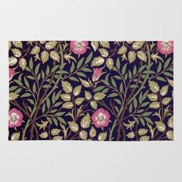William Morris Sweet Briar Floral Art Nouveau Rug