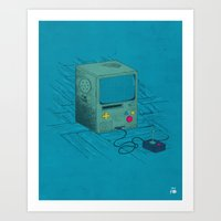 video game Art Prints featuring Old Video Game Console by ellygeh | Elly Medeiros