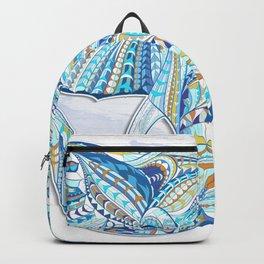 Blue Ethnic Elephant Backpack